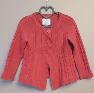 Girls OshKosh B'gosh Size 4, Pink Cardigan Sweater